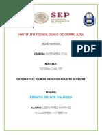ENSAYO DE VALORES