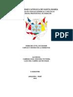 trabajo universitario sobre Cargas y Deudas de la herencia peru .pdf