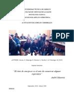 ACTIVACIÓN DE LOBULOS CEREBRALES, Jácome; Mayorga; Moreira; Paredes; Velástegui