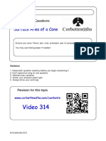 Surface Area of a Cone PDF