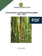 Plan Nacional de Promocion del Bambu 2008-2020