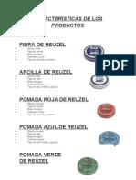 Características de los productos
