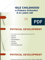 MIDDLE CHILDHOOD PHYSICAL DEV'T