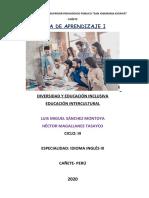 MODELO GUIA DE APRENDIZAJE de DIVERSIDAD Y EDUCACIÓN INCLUSIVA