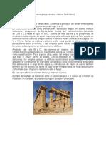 Los periodos de la arquitectura griega