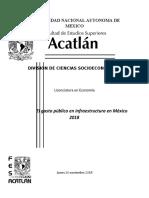 El Gasto Público en Infraestructura en México 2018