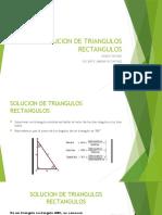 SOLUCION DE TRIANGULOS RECTANGULOS