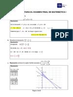 Resolución del Preparatorio para el examen final de Matemática I_2020_1