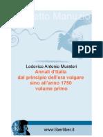 Lodovico Antonio Muratori - Annali d'Italia Dal Principio Dell'Era Volgare Sino All'Anno 1750 - 01