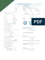 Formulario de álgebra, trigonometría y cálculo