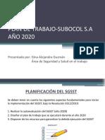 PLAN DE TRABAJO-SUB. S.A