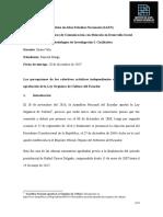 Percepciones de Los Colectivos Artísticos de Quito Frente a La Ley Orgánica de Cultura.