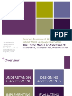 3 Modes of Assessment
