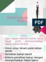 tekstil  faktor yang mempengaruhi desain