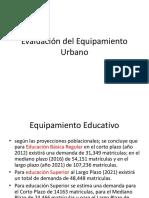 Evaluación del Equipamiento Urbano ultima