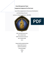 UAS Brand Management Paper