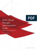 Zerto Virtual Manager Azure Administration Guide
