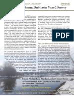 Middle Susquehanna Subbasin Year-2 Survey