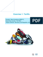 1. Tariff Exercise With Answers En