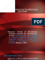 2 . Biomaterialele in medicina dentară