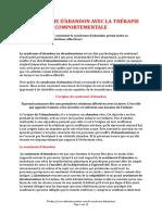 LE SYNDROME D ABANDON AVEC LA THERAPIE COMPORTEMENTALE (11 pages - 184 ko)
