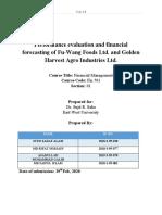 Golden Harvest Ltd and Fu-wang Food Ltd.