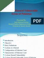 Cyclone Hazard Vulmerable Areas of Pakistan