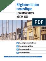 Réglementation acoustique - Les changements de l'an 2000
