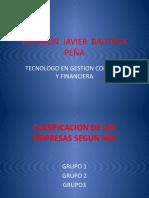 CLASIFICACION DE LAS EMPRESAS SEGUN LAS NIFF.