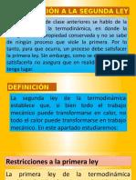 INTRODUCCIÓN A LA SEGUNDA LEY