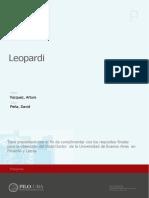 Giacomo Leopardi - Tesis