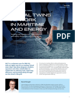 DIGITAL TWINS AT WORK IN MARITIME AND ENERGY
