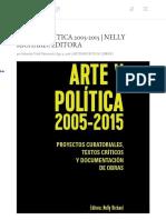Arte y Politica 2005-2015 Nelly Richard