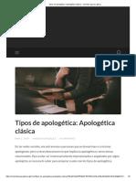 Tipos de apologética_ Apologética clásica - Viviendo para su gloria