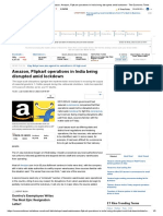 lockdown impact on Amazon_ Amazon, Flipkart operations in India being disrupted amid lockdown - The Economic Times