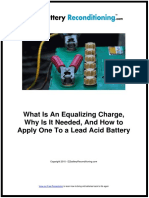 What is an Equalizing Charge,Why is It Needed, And How to Apply One to a Lead Acid Battery
