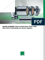Mann + Hummel Diesel Particulate Filter CRT New Filter Technology for Diesel Engine