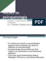 Noções de psicopatologia