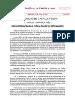 Subvenciones y ayudas a la Familia en Castilla y león 2010- Oden FAM_32_2010