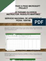 Manual paso a paso Microsoft Project