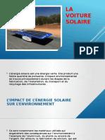 La voiture solaire-impact environnemental