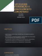 UFCD10369 - Intervenção Comunitária.pptx