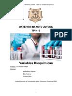 Variables Bioquímicas -Enfermeria