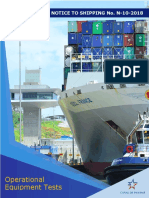 Panama canal requirements N10-2018