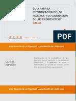 GUIA PARA LA IDENTIFICACIÓN DE LOS PELIGROS Y LA VALORACIÓN DE LOS RIESGOS EN SST