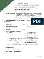 Fiche Projet_ Autoroute du Corridor_Cotonou-Bohicon-Dassa-Parakou-Malanville
