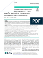 Does bullying predict suicidal behaviors among in-school adolescents_ A cross-sectional finding from Tanzania as an example of a low-income country
