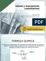 fórmulas químicas y expresiones cuantitativas