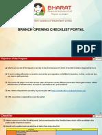Branch Opening Checklist 1.2