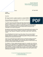 Global Ceasefire Joint Letter